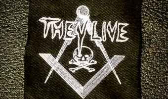 Photo of They Live Skull and Bones/Square and Compass Logo patch